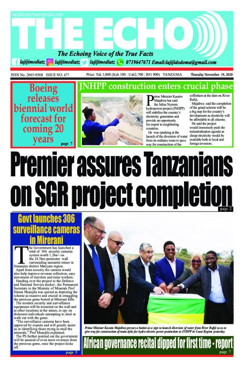 Premier assures Tanzanians on SGR project completion | The ECHO