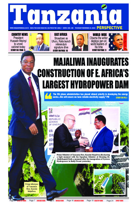 Majaliwa inaugurates construction of E. Africa's largest hyd | Tanzania Perspective