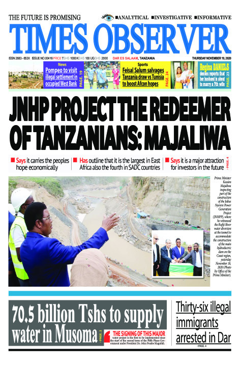 JNHP PROJECT THE REDEEMER OF TANZANIANS: MAJALIWA | Times Observer