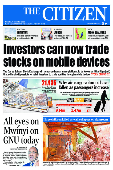 INVESTOR'S CAN NOW TRADE STOCKS ON MOBILE DEVICES  | The Citizen