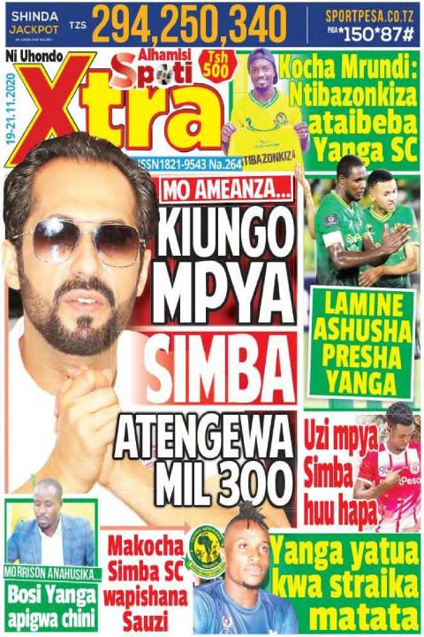 KIUNGO MPYA SIMBA ATENGEWA MIL300 | SpotiXtra Alhamis
