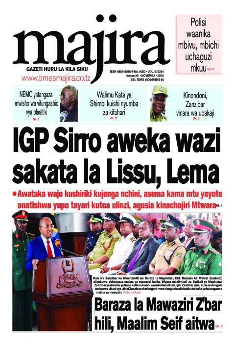 IGP Sirro aweka wazi sakata la Lissu, Lema | MAJIRA