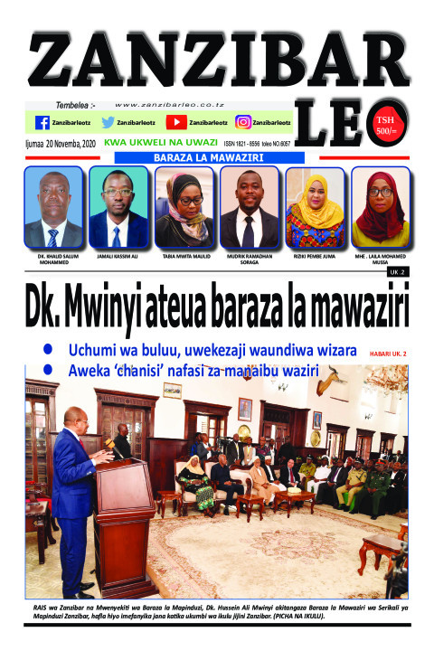 Dk. Mwinyi ateua baraza la mawaziri | ZANZIBAR LEO