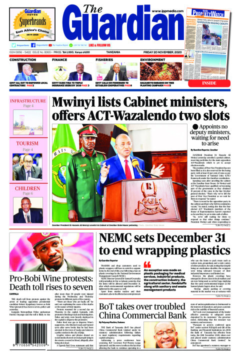 Mwinyi lists Cabinet ministers, offers ACT-Wazalendo two slo   The Guardian