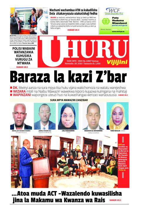 Baraza la kazi Zanzibar | Uhuru