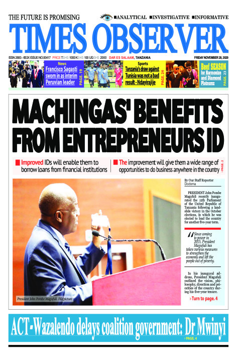 MACHINGAS' BENEFITS FROM ENTREPRENEURS ID | Times Observer