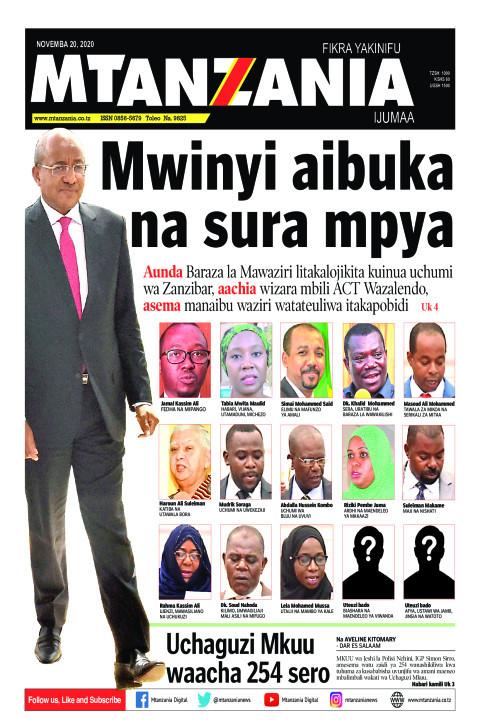 Mwinyi aibuka na sura mpya | Mtanzania