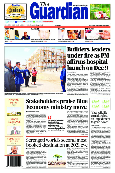 Builders, leaders under fire as PM affirms hospital launch o   The Guardian