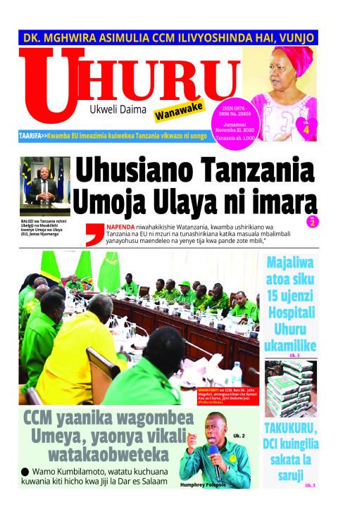 Uhusiano Tanzania Umoja Ulaya ni imara | Uhuru