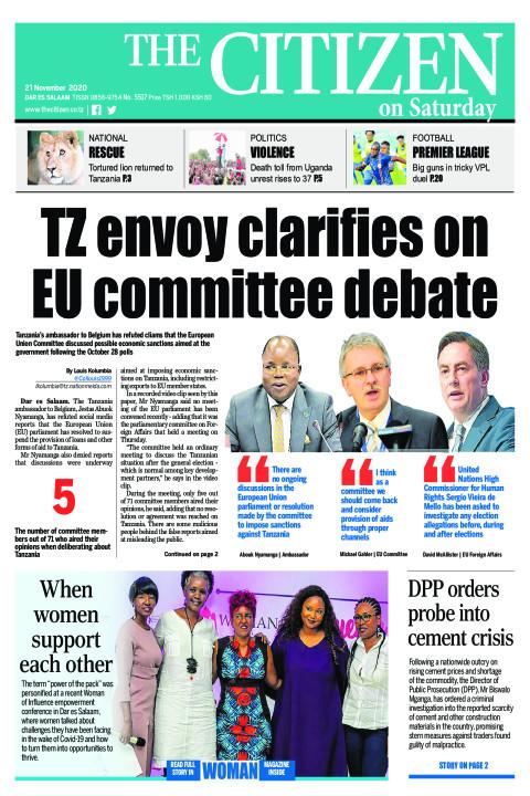 TZ ENVOY CLARIFIES ON EU COMMITTEE DEBATE  | The Citizen