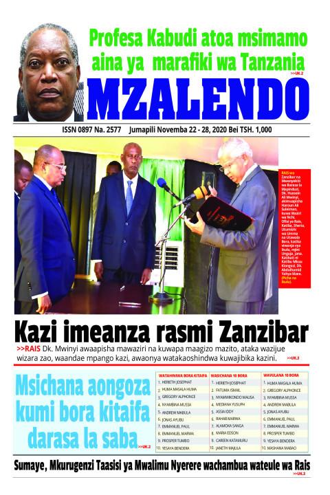 Kazi imeanza rasmi Zanzibare | Mzalendo