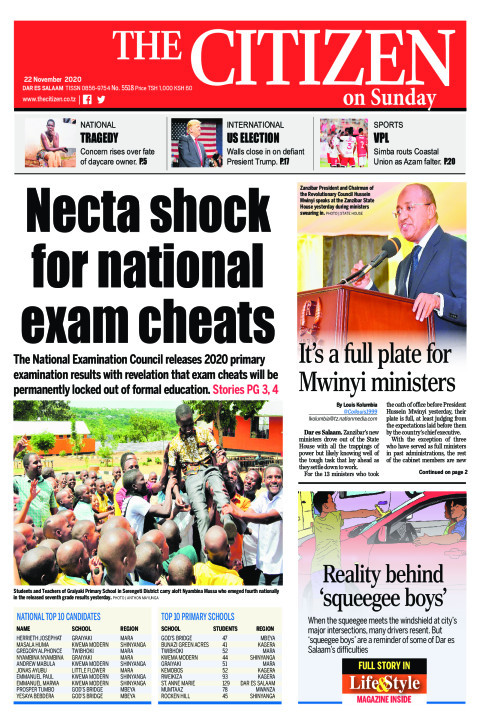 NECTA SHOCK FOR NATIONAL EXAM CHEATS  | The Citizen