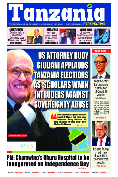 US attorney Rudy Giuliani applauds Tanzania elections as  sc | Tanzania Perspective