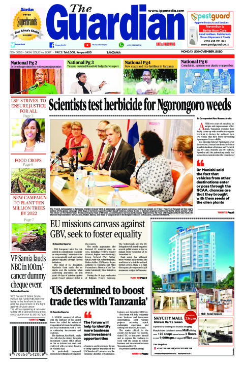 Scientists test herbicide for Ngorongoro weeds   The Guardian