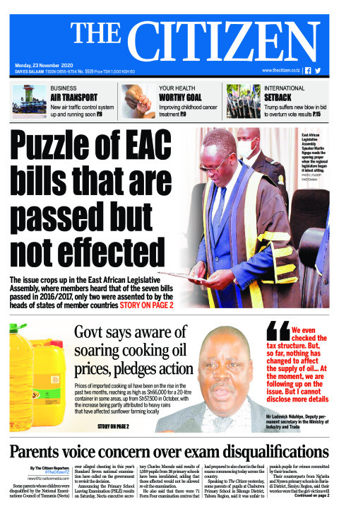 PUZZLE OF EAC BILLS THAT ARE PASSED BUT NOT EFFECTED  | The Citizen