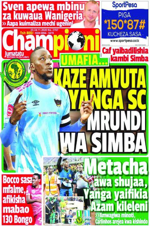 KAZE AMVUTA YANGA SC MRUNDI WA SIMBA | Champion Jumatatu