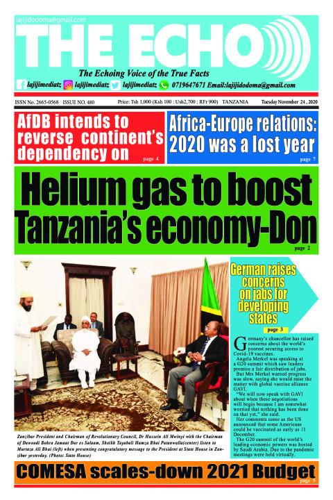 Helium gas to boost Tanzania's economy-Don | The ECHO