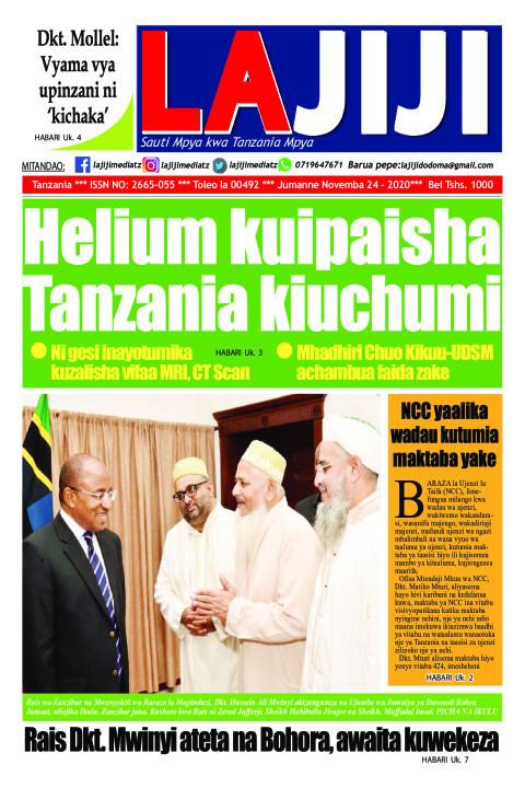 Helium kuipaisha Tanzania kiuchumi  | LaJiji