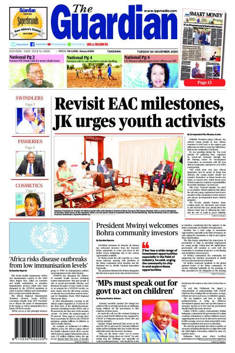 Revisit EAC milestones, JK urges youth activists    The Guardian