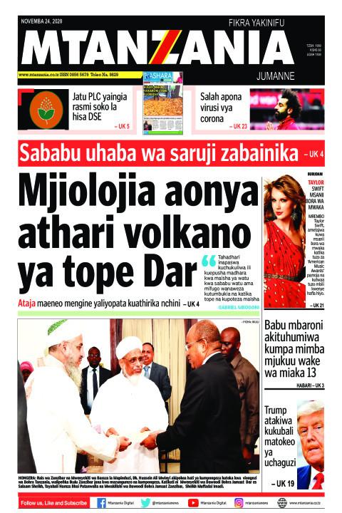 Mjiolojia aonya athari volkano ya tope Dar | Mtanzania