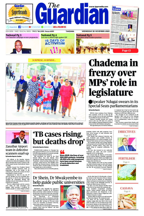 Chadema in frenzy over MPs' role in legislature   The Guardian