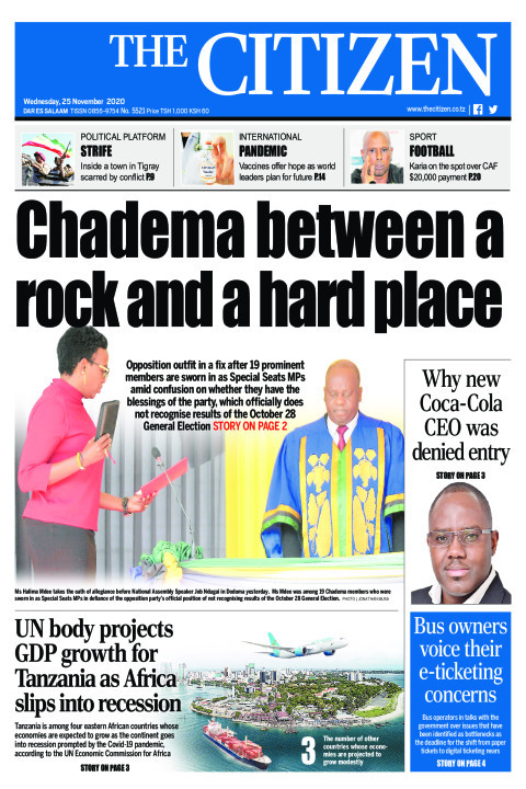 CHADEMA BETWEEN A ROCK AND A HARD PLACE  | The Citizen