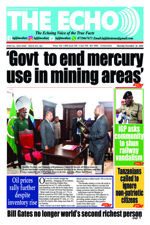'Govt  to end mercury use in mining areas' | The ECHO