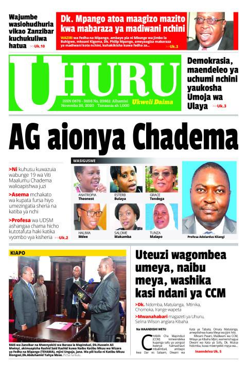 AG aionya Chadema | Uhuru