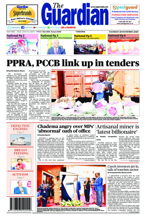 PPRA, PCCB link up in tenders   The Guardian