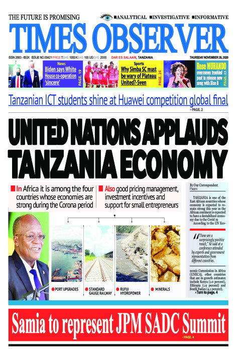 UNITED NATIONS APPLAUDS TANZANIA ECONOMY | Times Observer