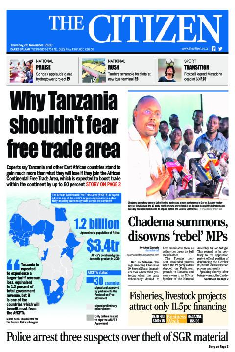 WHY TANZANIA SHOULDN'T FEAR FREE TRADE AREA   | The Citizen
