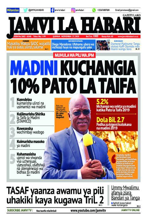 MADINI KUCHANGIA 10% PATO LA TAIFAMADINI KUCHANGIA 10% PATO  | Jamvi La Habari