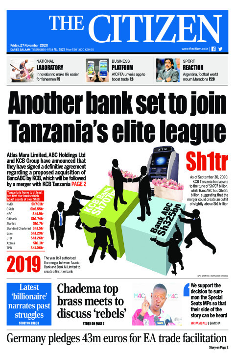 ANOTHER BANK SET TO JOIN TANZANIA'S ELITE LEAGUE  | The Citizen