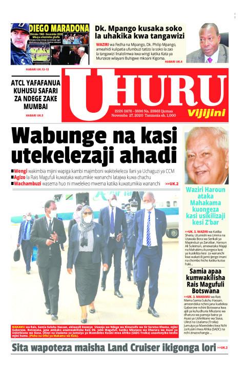 Wabunge na kasi utekelezaji ahadi | Uhuru