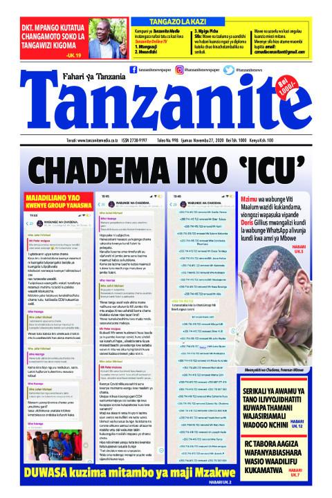 CHADEMA IKO ICU'   Tanzanite