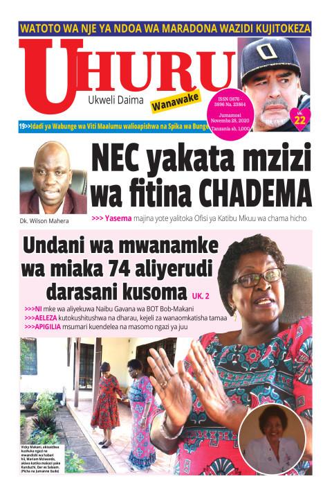 NEC yakata mzizi wa fitina CHADEMA | Uhuru