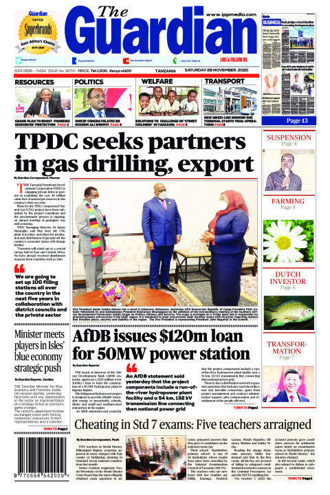 TPDC seeks partners in gas drilling, export   The Guardian