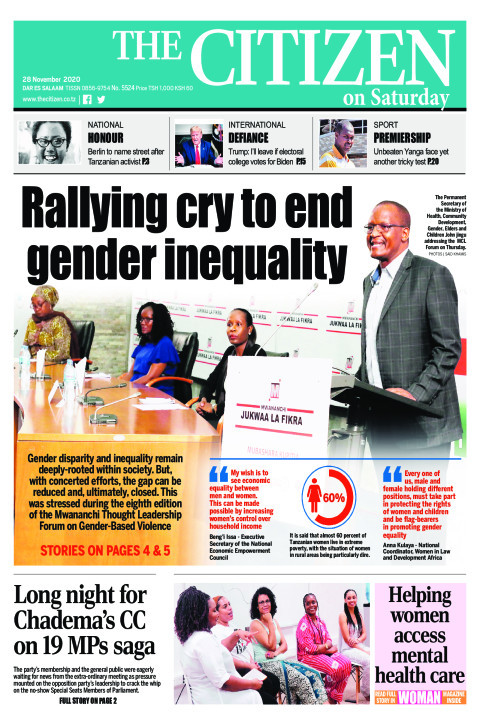 RALLYING CRY TO END GENDER INEQUALITY  | The Citizen