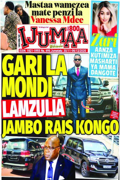 GARI LA MONDI LAMZULIA JAMBO RAIS KONGO | Ijumaa Wikienda