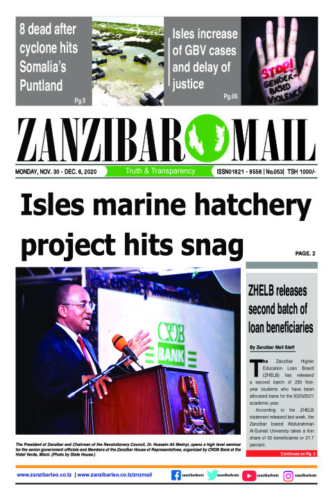Isles marine hatchery project hits snag | ZANZIBAR MAIL