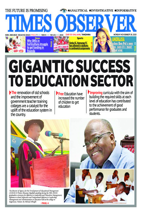 GIGANTIC SUCCESS TO EDUCATION SECTOR | Times Observer