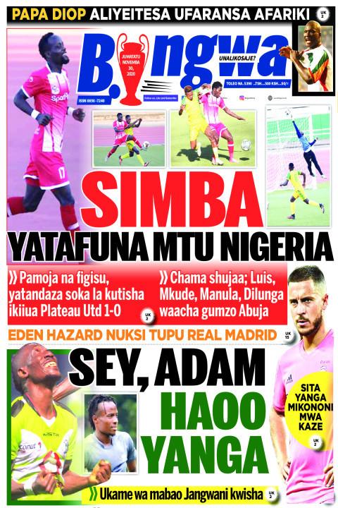 SIMBA YATAFUNA MTU NIGERIA | Bingwa