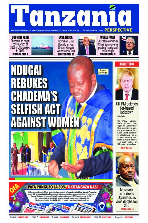Ndugai rebukes Chadema's selfish act against women    Tanzania Perspective