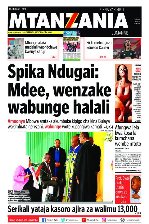 Spika Ndugai: Mdee, wenzake wabunge halali | Mtanzania