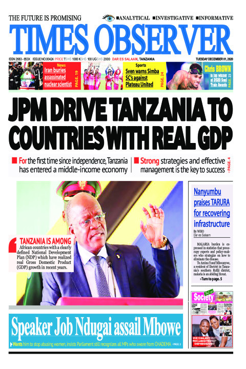 JPM DRIVE TANZANIA TO COUNTRIES WITH REAL GDP | Times Observer