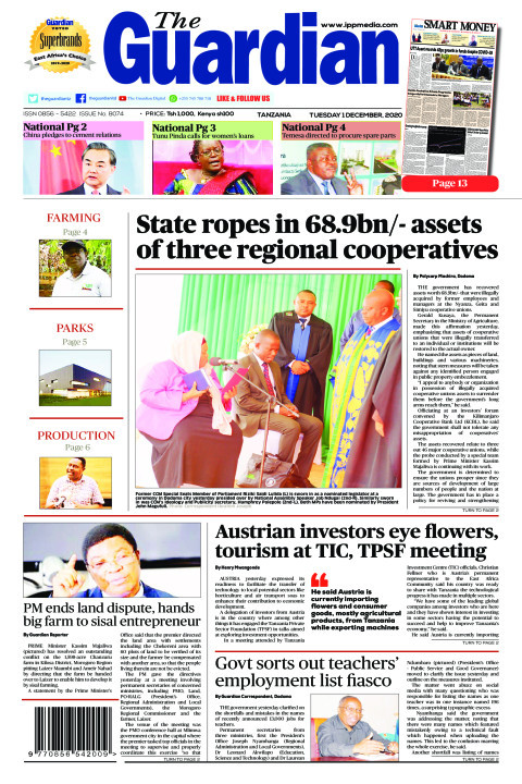 State ropes in 68.9bn/- assets of three regional cooperative | The Guardian