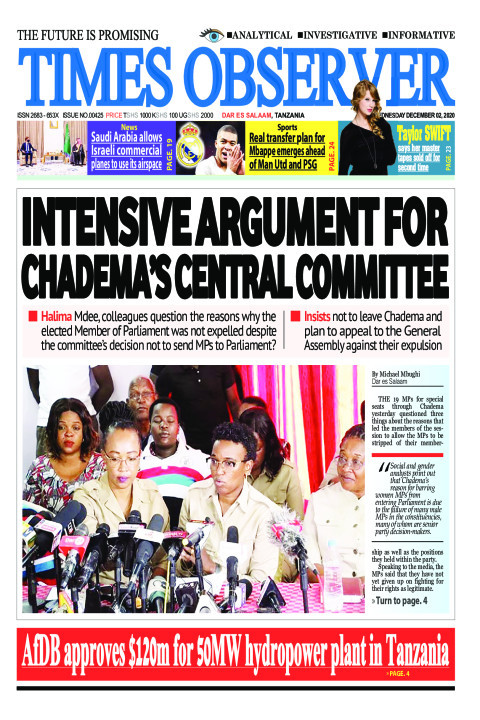 INTENSIVE ARGUMENT FOR CHADEMA'S CENTRAL COMMITTEE | Times Observer