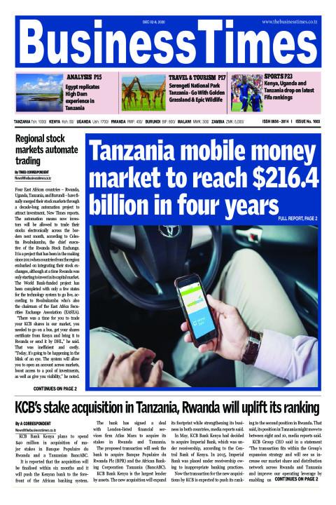 Tanzania mobile money market to reach $216.4 billion in fo | Business Times