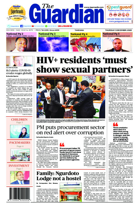 HIV+ residents 'must show sexual partners'   The Guardian