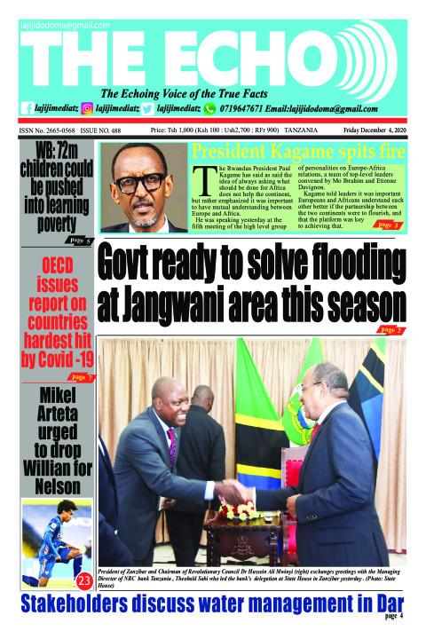 Govt ready to solve flooding at Jangwani area this season | The ECHO